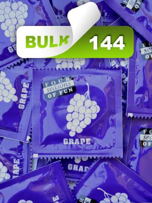 Four Seasons Grape Condoms (144 Bulk)  - Buy Bulk Condoms Online