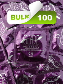 Glyde Wildberry Condoms (100 Bulk) - Buy Bulk Condoms Online