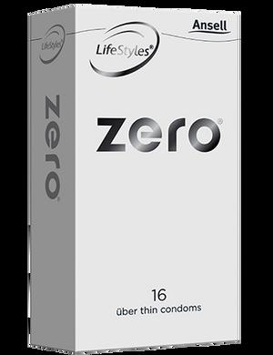 Ansell Zero Condoms 16 Pack - Buy Condoms Online