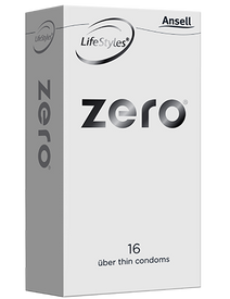 Ansell Zero Condoms 16 Pack - Buy Condoms Online