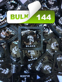 Four Seasons Black Condoms Bulk 144 CondomSales