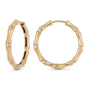 0.14ct Round Cut Diamond Cluster Fashion Hoop Earrings in 18k Rose Gold