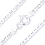2.7mm (Gauge 060) Marina / Mariner Link Italian Chain Necklace in Solid .925 Sterling Silver - CLN-MARN1-060-SLP