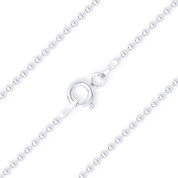 1.2mm (Gauge 120) Polished Ball Bead Link Italian Chain Necklace in .925 Sterling Silver - CLN-BEAD22-120-SLP