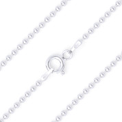 1.8mm (Gauge 180) Polished Ball Bead Link Italian Chain Necklace in .925 Sterling Silver - CLN-BEAD22-180-SLP