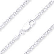 2mm (Gauge 020) Popcorn Link Italian Coreana Chain Necklace in .925 Sterling Silver - CLN-POP1-020-SLP