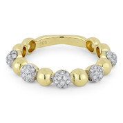0.39ct Round Brilliant Cut Diamond Stackable Fashion Ring in 14k Yellow & White Gold -  AM-R1031Y