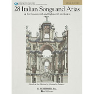 28 Italian Songs & Arias of the 17th & 18th Centuries - Medium High - Book/On..