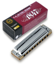 Seydel Blues 1847 Classic - Key of Low F (16201-LF) Harmonica and Packaging