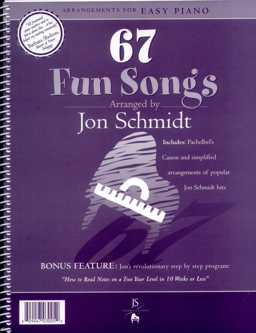 67 Fun Songs: Arrangements for Easy Piano Songbook