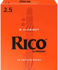 Rico Bb Clarinet Reeds 10-Pack #2.5 (2B2.5)