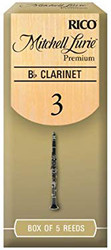 Mitchell Lurie Premium Bb Clarinet Reeds, Strength 3.0, 5-pack (2LP3)