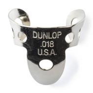 Dunlop Thumbpicks Nickel Silver .018mm 5-Pack (33P18) Front View