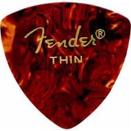 Fender 346 Classic Celluloid Guitar Picks 72-Pack - Shell - Thin