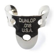 Dunlop Fingerpicks Nickel Silver .018mm 50-Pack (34R18) Front View