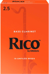 Rico Bass Clarinet Reeds 10-Pack #2.5