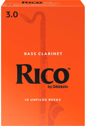 Rico Bass Clarinet Reeds 10-Pack #3.0 (4B3)