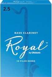 Rico Royal Reeds Bass Clarinet 10-Pack 2.5 (4R2.5)