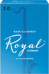 Rico Royal Reeds Bass Clarinet 10-Pack 3.0 (4R3)