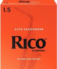 Rico 10-Pack Alto Sax Reeds #1.5 (6B1.5)