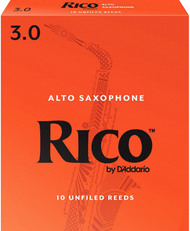 Rico 10-Pack Alto Sax Reeds #3.0 (6B3)