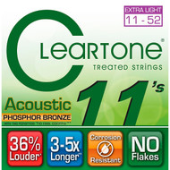 Cleartone Custom-Light Gauge Coated Acoustic Guitar Strings