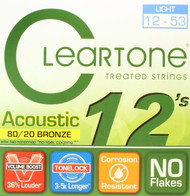 Set Cleartone Acoustic 80/20 Bronze 12-53 Light 7612