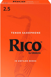 Rico Tenor Sax Reeds 10-Pack 2.5 (7B2.5)