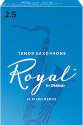 Rico Royal Reeds Tenor Sax 10-Pack 2.5 (7R2.5)
