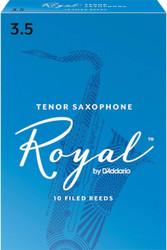 Rico Royal Reeds Tenor Sax 10-Pack 3.5 (7R3.5)