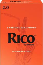 Rico 10-Pack Baritone Sax Reeds #2.0 (8B2)