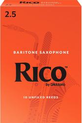 Rico 10-Pack Baritone Sax Reeds #2.5 (8B2.5)