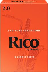 Rico 10-Pack Baritone Sax Reeds #3.0 (8B3)