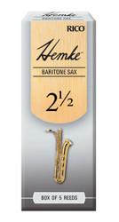 Hemke Baritone Sax Reeds, Strength 2.5, 5-pack