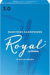 Rico Royal Reeds Baritone Sax 10-Pack 3.0 (8R3)