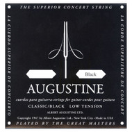 Augustine AUGBLK-4D Coated 80/20 Bronze Classical Guitar Strings, Ligh