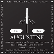 Set Augustine Classic Black Regular Trebles/Low Tension Basses