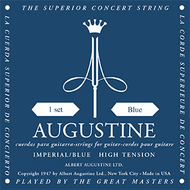 Set Augustine Imperial Blue High Tension Basses/Medium Tension Trebles
