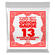 Single Ernie Ball Plain Steel Electric or Acoustic Guitar .013 (B1013) Packaging Front