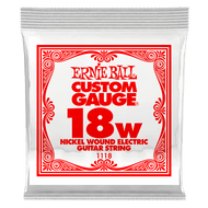 Single Ernie Ball Nickel Wound Electric Guitar .018 (B1118) Packaging Front