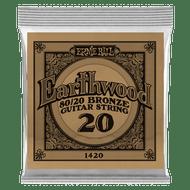 Ernie Ball Earthwood 80/20 Bronze .020 6-Pack (B1420)