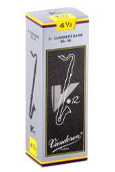 Vandoren CR6245 Bass Clarinet V.12 Reeds Strength 4.5; Box of 5