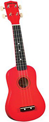 Diamond Head DU-102 Rainbow Soprano Ukulele Red