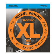 D'Addario Nickel Wound Bass 50-105 Medium Long Scale (EXL160) Package Front