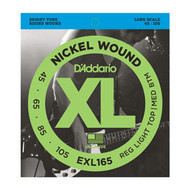 D'Addario Nickel Wound Bass 45-105 Custom Light Long Scale (EXL165) Package Front