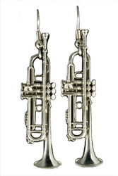 Trumpet Earrings (Silver