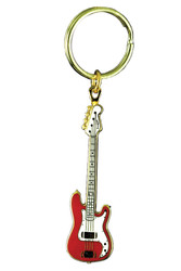 Harmony Jewelry Fender® P Bass Electric Guitar Keychain Red (FPK518GRD)
