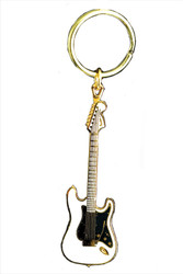 Electric Guitar Key Chain - Whit