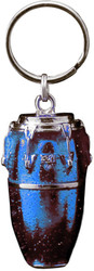 Harmony Jewelry Conga Drum Keychain Silver and Blue