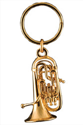 Euphonium Key Chain - 24k Gold Plate